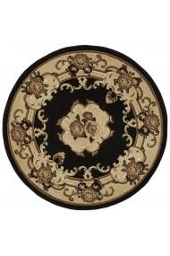 Covor Decorino Oriental & Clasic Miami Rotund Negru 140x140 cm