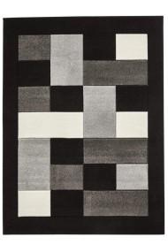 Covor Decorino Modern & Geometric Odesa Negru/Gri 60x225 cm