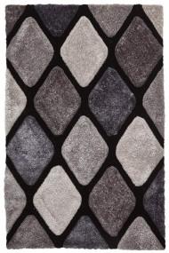 Covor Decorino Shaggy Catania Negru/Gri 120x170 cm