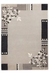 Covor Decorino Floral Song Lana Gri 90x160 cm