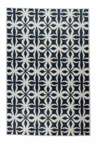 Covor Decorino Reversibil Modern & Geometric Kendal Crem/Albastru 80x140 cm