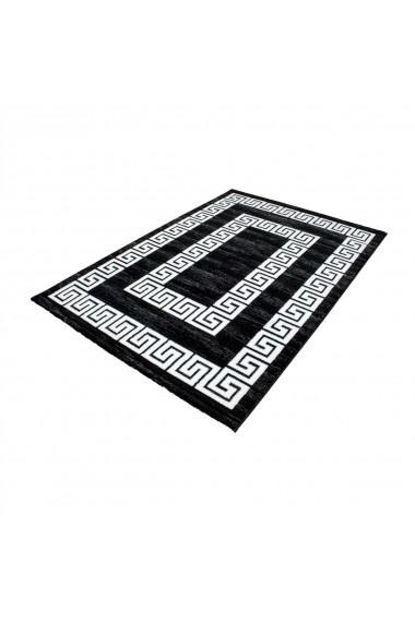 Covor Decorino Modern & Geometric Walton Negru 80x150 cm