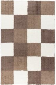 Covor Decorino Patchwork Hugh Alb/Maro 100x150 cm