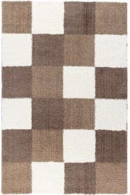 Covor Decorino Patchwork Hugh Alb/Maro 160x235 cm
