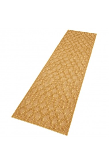 Covor Mint Rugs Modern & Geometric Shine Galben 80x250 cm