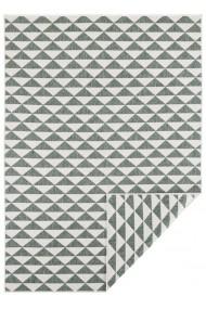 Covor Hanse Home Reversibil Modern & Geometric Twin Supreme Verde/Crem 80x150 cm
