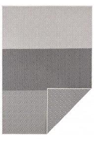 Covor Hanse Home Reversibil Modern & Geometric Twin Supreme Negru/Crem 80x150 cm