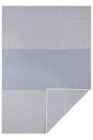 Covor Hanse Home Reversibil Modern & Geometric Twin Supreme Albastru/Crem 80x150 cm
