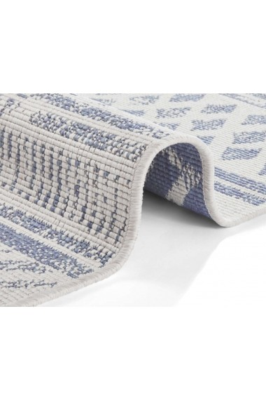 Covor Hanse Home Reversibil Oriental & Clasic Twin Supreme Albastru/Crem 80x250 cm