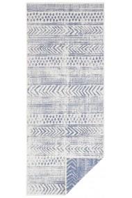 Covor Hanse Home Reversibil Oriental & Clasic Twin Supreme Albastru/Crem 80x350 cm