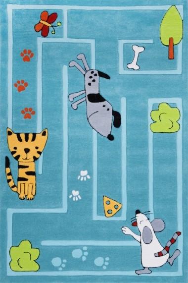 Covor Decorino Kids Copii & Tineret Arven Acril Albastru 100x160 cm