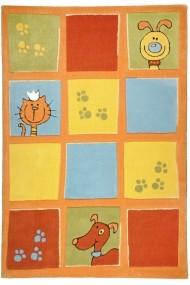 Covor Decorino Kids Copii & Tineret Arven Acril Portocaliu 100x160 cm