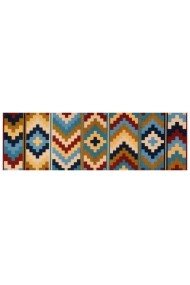 Covor Zala Living Bucatarie Modern & Geometric Cook & Clean Multicolor 50x150 cm
