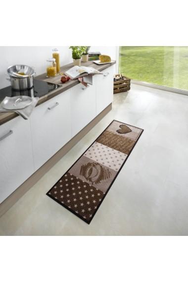 Covor Zala Living Bucatarie Modern & Geometric Cook & Clean Maro 50x150 cm