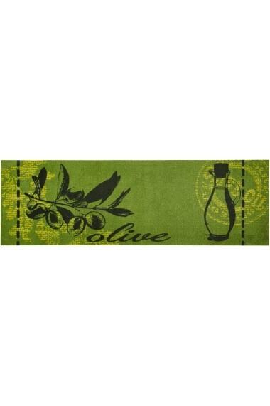 Covor Zala Living Bucatarie Modern & Geometric Cook & Clean Verde 50x150 cm