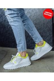 Sneakers Bigiottos barbati J4945 din piele naturala alba