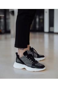 Pantofi sport negri Bigiottos Shoes din piele naturala