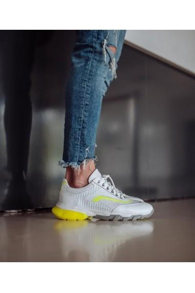 Pantofi sport Bigiottos Shoes din piele naturala alba