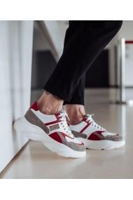 Pantofi sport Bigiottos Shoes 12085 piele naturala alba