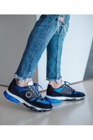 Pantofi sporti sport Bigiottos Shoes Nautic in albastru si negru
