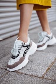 Pantofi sport albi Bigiottos din piele naturala