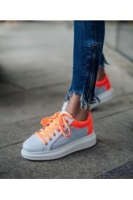 Sneakers Bigiottos Shoes 3628-CAD pentru femei in alb si neon