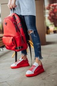 Pantofi sport casual Bigiottos Shoes 3628-CADR rosii Cherry