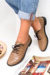 Pantofi Awon 50001VIK Gri-Bej