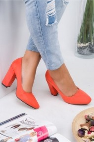 Pantofi cu toc Awon 5402ORJS Portocaliu