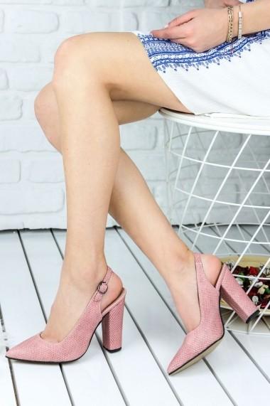 Pantofi cu toc Awon 8A74009PUY Roz