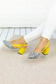 Pantofi cu toc Awon 5229LM Galben