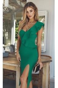 Rochie midi Chic Diva Olivera Verde