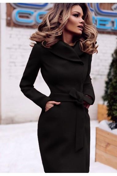 Palton Chic Diva Sylvie Negru