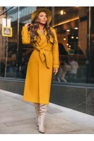 Palton Chic Diva Zeny Mustar