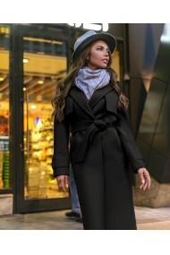 Palton Chic Diva Zeny Negru