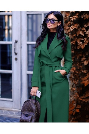 Palton Chic Diva Zeny Verde