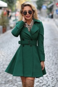 Palton Chic Diva Selma Verde