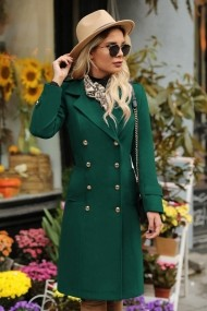 Palton Chic Diva Roxanne Verde
