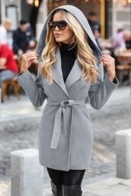 Palton Chic Diva Sylvie Gri