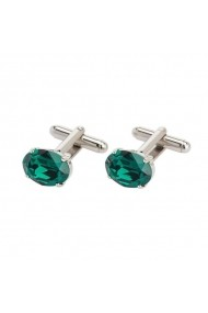 Butoni cu cristale Swarovski Carla Brillanti Oval Emerald
