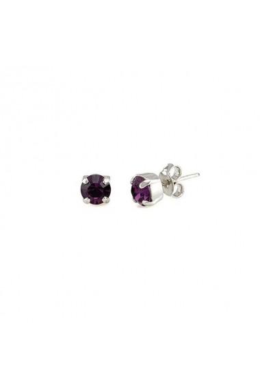 Cercei cu cristale Swarovski Carla Brillanti 3014 Amethyst