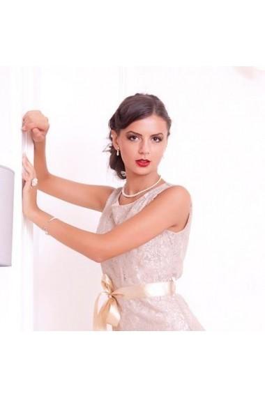 Cercei cu perle Swarovski Carla Brillanti 3245 Cream Pearl