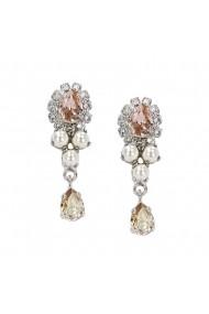 Cercei cu perle si cristale Swarovski Carla Brillanti Flower Pearl Vintage