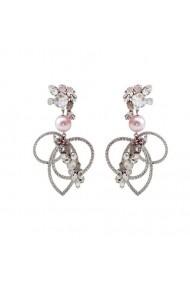 Cercei cu perle si cristale Swarovski Carla Brillanti 3187 Crystal &Pearl