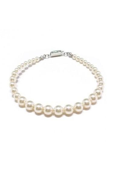 Bratara cu perle Swarovski Carla Brillanti 2205 Cream Pearl