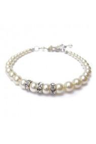 Bratara cu perle Swarovski Carla Brillanti 2204 Cream Pearl