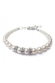 Bratara cu perle Swarovski Carla Brillanti 2204 White Pearl