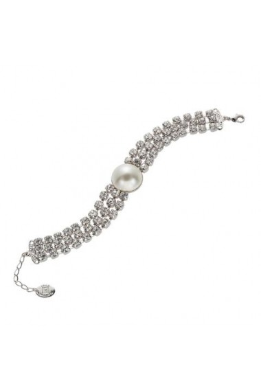 Bratara cu perle si cristale Swarovski Carla Brillanti 2326 Crystal &Pearl