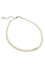 Colier cu perle Swarovski Carla Brillanti 1204 Cream Pearl