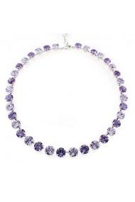 Colier cu cristale Swarovski Carla Brillanti 1006 Violet &Tanzanite